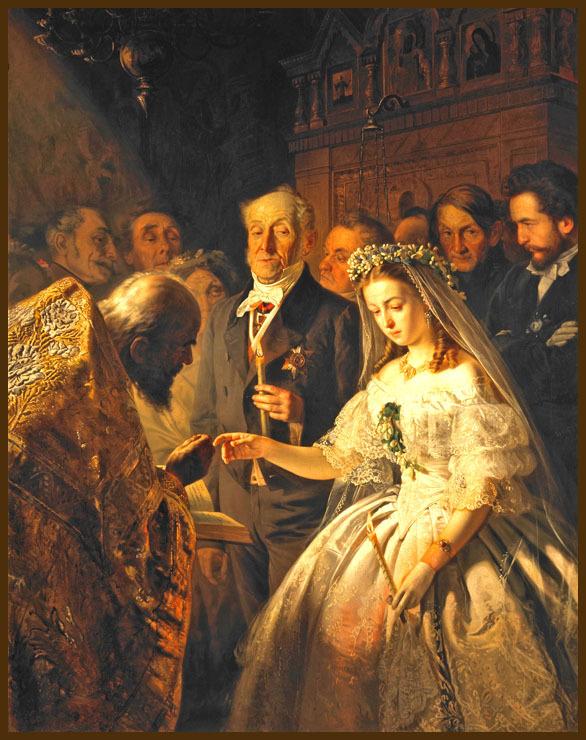 Василий Пукирев - Неравный брак, 1862 год, масло, холст